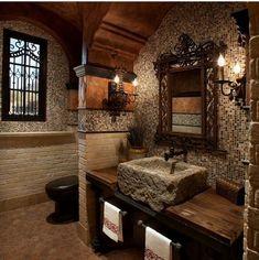 bagno in legno e pietra  AR