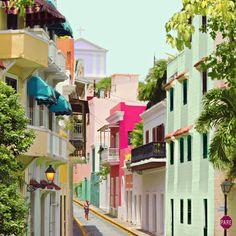 Old San Juan Puerto Rico Print - Matt Crump