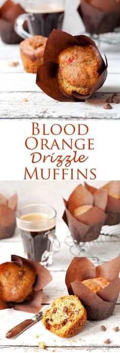 Blood Orange Drizzle Muffins with Chocolate Chips are an easy, sweet and seasonal breakfast win to enjoy
