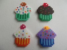 Cupcakes hama beads by All for Cakes