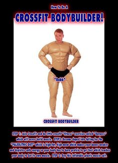 """How To Do Bodybuilding using Crossfit and the Paleolithic Diet.    STEP 1: Join Cross-Fit and do little """"fitness"""" exercises like """"Burpees"""" and jumping around, which don't build muscle.    STEP 2: Become duped into falling for the now debunked """"Paleo Diet Fatburningfoods that promote musclegrowth by healthycooking from paleodiet and  workouts produce newabs"""