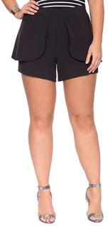 Plus Size Peplum Shorts