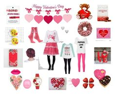 """""""Valentine Challenge"""" by shimmer-the-nerd ❤ liked on Polyvore featuring Godiva, Aéropostale, Nadri, R.H. Macy & Co., Kenzo, Whimsical Watches, Sephora Collection and River Island"""