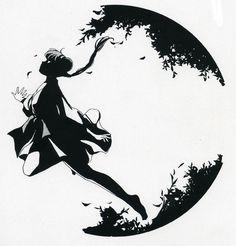 Miyu from Vampire Princess Miyu by Narumi Kakinouchi and Toshiki Hirano. I love the black shadows and composition on this pictuer.