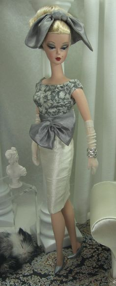 Grey Veil For Silkstone Barbie by MatisseFashions on Etsy