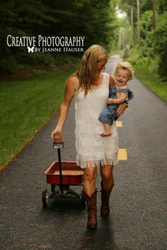Mommy & Me Photo, country style picture. Wagon, cowboy baby