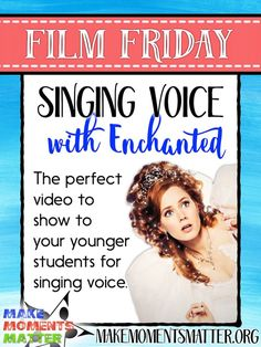 Singing voice with Enchanted - One of my favorite videos to show K & to get them thinking about their different voices: singing, speaking, shouting, and whisper. Elementary Choir, Elementary Music Lessons, Piano Lessons, Singing Lessons For Kids, Singing Tips, Kindergarten Music, Teaching Music, Teaching Kids, Preschool Music