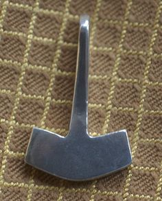 Hand Cast Sterling Silver Thor's Hammer by irenedavis1 on Etsy, $60.00
