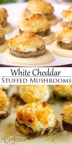 Copycat Longhorn White Cheddar Stuffed Mushrooms White Cheddar Stuffed Mushrooms are an easy make-ahead appetizer idea! They taste just like the Longhorn restaurant with a golden Parmesan crusted topping and flavorful white cheddar sauce. Seafood Appetizers, Yummy Appetizers, Appetizers For Party, Appetizer Recipes, Costco Appetizers, Southern Appetizers, Mushroom Appetizers, Appetizer Ideas, Burger Recipes