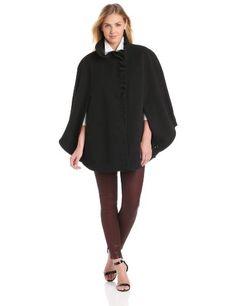 9b167fb6d4e5b Fashion Bug Womens Plus-Size Plus Size Soft Plush Ruffle Trim Cape www. fashionbug