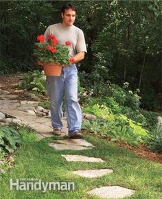 stepping stone and gravel paths - Google Search