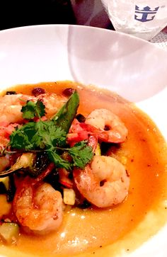 Jalapeño-Garlic Tiger Shrimp. This Mexican-inspired dish from Sabor comes with calabacitas (squash) and agave nectar.
