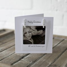 personalised peg photo love message christmas card by jg artwork | notonthehighstreet.com