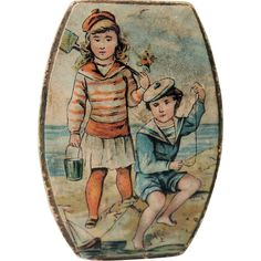 Pretty Little Lithe Candy Box with Children at Beach Shabby Chic Beach Cottage… Vintage Candy, Vintage Tins, Vintage Games, Vintage Ephemera, Beach Kids, Beach Fun, Shabby Chic Beach, Beach Cottage Decor, Candy Boxes
