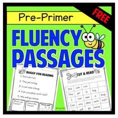 Fluency Passages Preprimer First Grade Reading Fluency, Reading Passages, Kindergarten Reading, Guided Reading, Free Reading, Fluency Activities, Small Group Activities, Reading Activities, Reading Resources