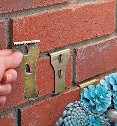 Brick Clip - Lee Valley Tools Brick Clips, Hanger Clips, Lee Valley, Fall Planters, Uppercase And Lowercase Letters, Steel Doors, Christmas Deco, Lower Case Letters, Brick Wall