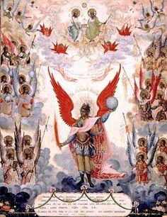 Archangel St Michael, by an unknown (Russian) artist (1804)