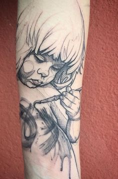 Sketch art tattoo... @soulcoaltaatoos
