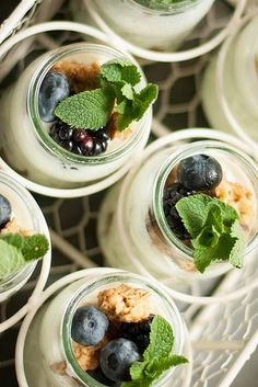 Yogurt...cute brunch idea