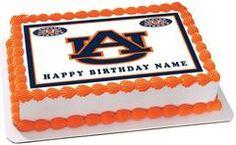 Auburn Tigers Edible Birthday Cake Topper OR Cupcake Topper, Decor