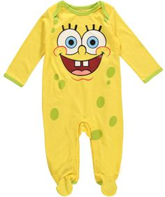 0cc870427 Nickelodeon Baby Boys  Spongebob 4 Piece Cotton Short Sleeve PJ Set ...