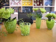Modern green office decorations