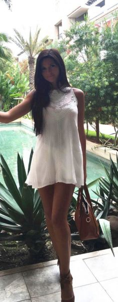 How about this white dress on my next tropical getaway, love it