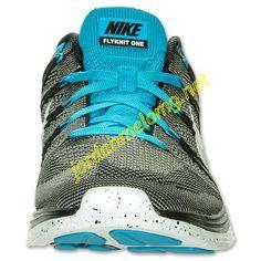 Charcoal Turq 554887 010 Nike Flyknit Lunar 1 Mens Black White