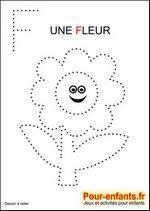 Jeux à imprimer maternelle jeu dessins A relier enfants de maternelle imprimer gratuitement dessin de fleur gratuit