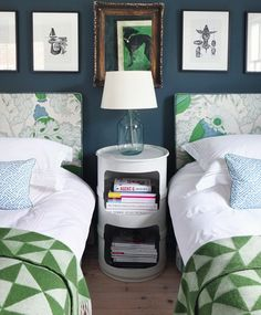 Colourtrend Ox Vein on walls and try GP&J Baker Larkhill botanical fabric for headboard.