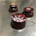 Cool peppermint ganache in a super cool 70% dark chocolate design... New Luxx Chocolat Snowflake Collection