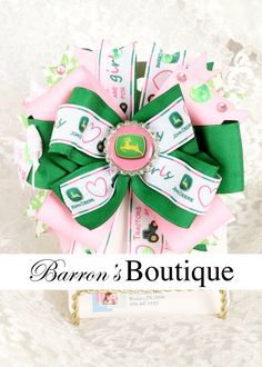 John Deere Hair Bow by BarronsBoutique00 on Etsy, $8.50