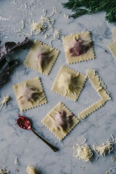 our food stories: gluten free ravioli filled with red and yellow beetroot and…