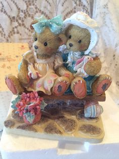 Vintage~Cherished Teddies~Tracie And Nicole~Friends~360/567~w-Papers~In Box~WOW!