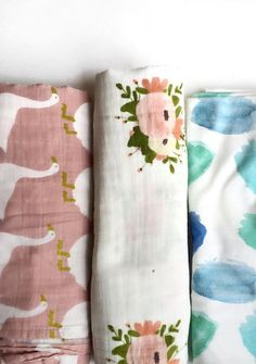 Pretty Baby Swaddle Blankets | LittleBunches on Etsy