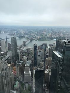 A view of Brooklyn from the top of One World Trade Center....
