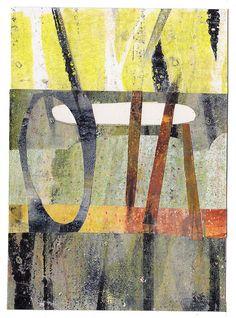 collage of my gelli prints by Tara Axford, Bowen's Creek.