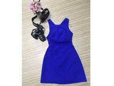 Đầm Cutout xanh Zara Trafaluc