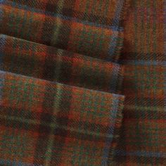 Magee  Brown, Green and Blue Check Tweed