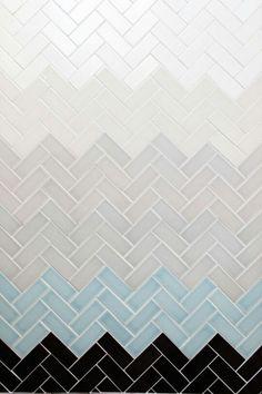 Herringbone tile colour blend