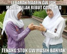 Meme Idul Fitri Lucu, Gokil, Kocak, Keren, Super Ngakak Terbaru & DP BBM Gambar Kata Lebaran