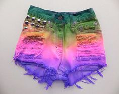 Cute Colorful Ombre Shorts
