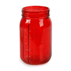 Hey, I found this really awesome Etsy listing at https://www.etsy.com/listing/258541589/4-red-mason-ball-jar-glass-set-for