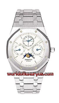 25820ST.OO.0944ST.03 - The Audemars Piguet Royal Oak Perpetual Calendar watch in stainless steel features a 39mm case, white dial, and a stainless steel bracelet. - See more at: http://www.worldofluxuryus.com/watches/Audemars-Piguet/Royal-Oak/25820ST.OO.0944ST.03/62_63_297.php#sthash.kb9aXkQ9.dpuf