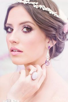 Soft pink and purple wedding makeup inspiration | Photography by: Artiese Photography | WedLuxe Magazine