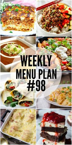 Add some major flavor to your dinner with these delicious Weekly Menu Plan recipes!