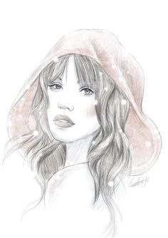 Another #redridinghood #hair #illustration!  Talented work!