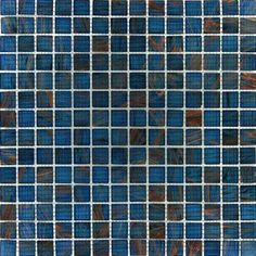 Blue Iridescent Glass 12 in. x 12 in. x 4 mm Glass Mesh-Mounted Mosaic Tile