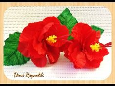 ▶ DIY - How to Make Hibiscus Paper Flower for Room & Gift Box Decoration, Hair Bow - YouTube