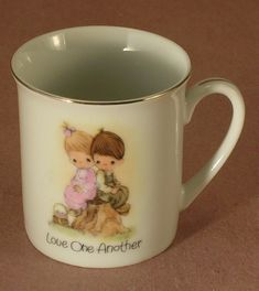Precious Moments 1980 Cup Titled Love One Another Enesco Made in Japan by JohnGermaine on Etsy